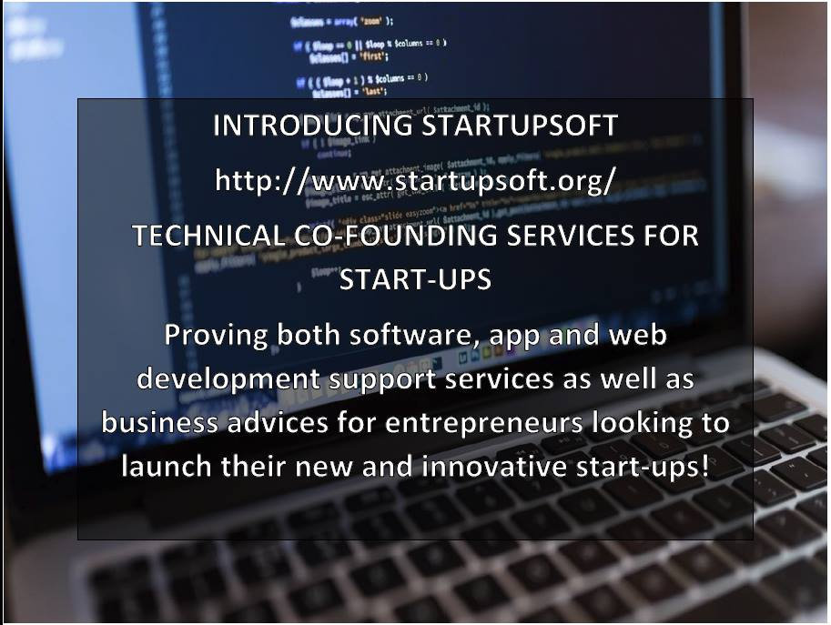 Startupsoft technical co-founding services for start ups