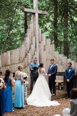 Outdoor Wedding Chapel at Drummond Island Resort