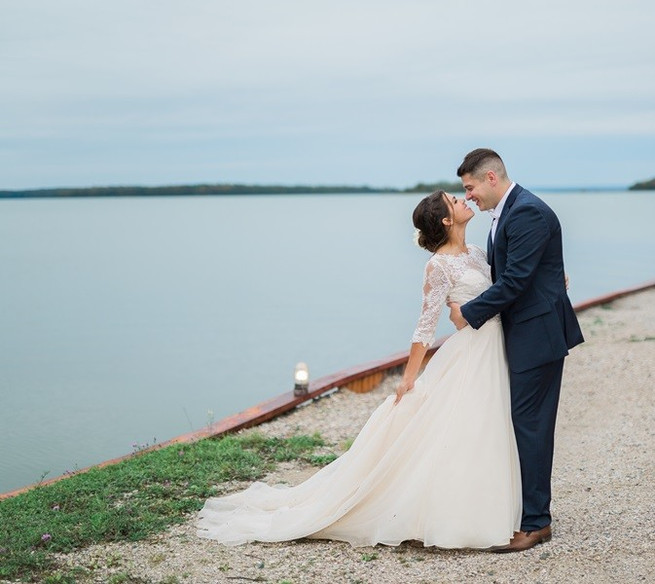 Northern Michigan Wedding Ceremony at Drummond Island Resort