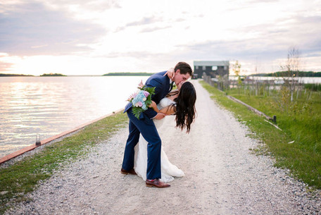Newly wed couple at Drummond Island Resort