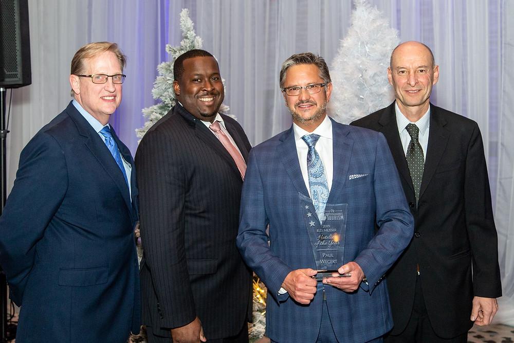 Paul Wegert receiving the RD Musser Hotelier of the Year Award