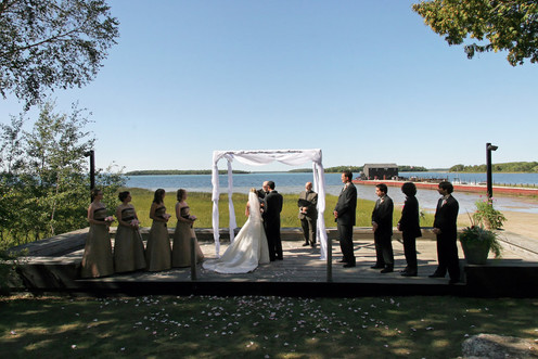 Wedding ceremony at Drummond Island Resort