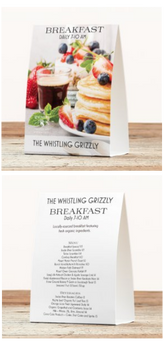 Hotel & Restaurant Table Tents
