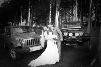 Wedding couple at Drummond Island Resort