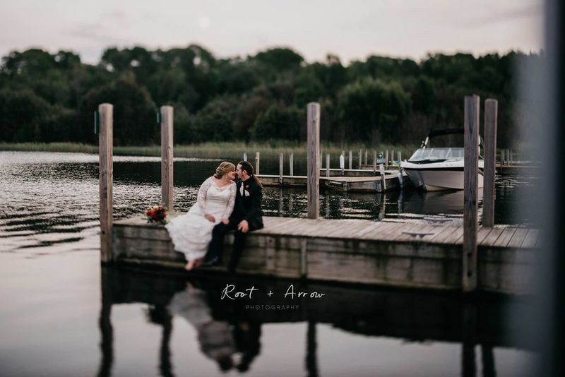 Wedding couple at Drummond Island Resort