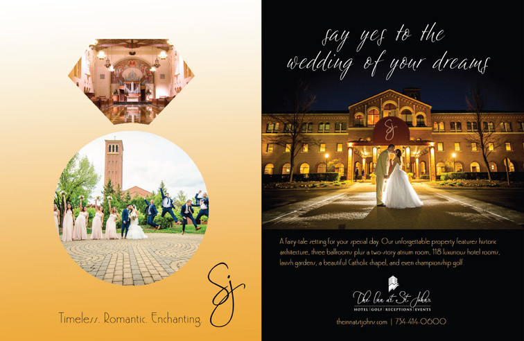 The Knot magazine print ad for the Inn at St. John's