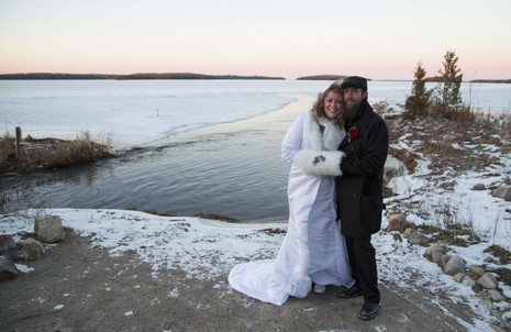 Winter Wedding  at Drummond Island Resort