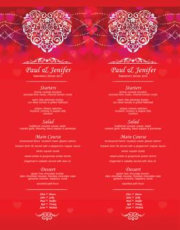 Custom Menus for Restaurants, Parties, Events & Weddings