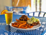 Enjoy at great meal & perfect summer weather on our outdoor patio