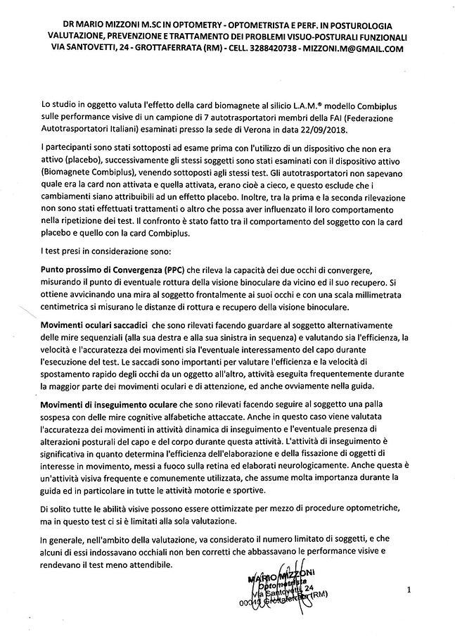 FAI Esercizi Optometrici - Mario Mizzoni
