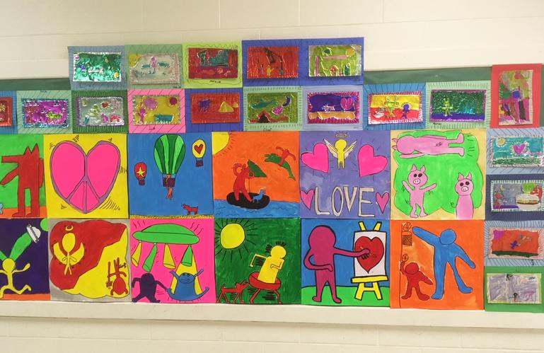 KHS artists' work hangs at school