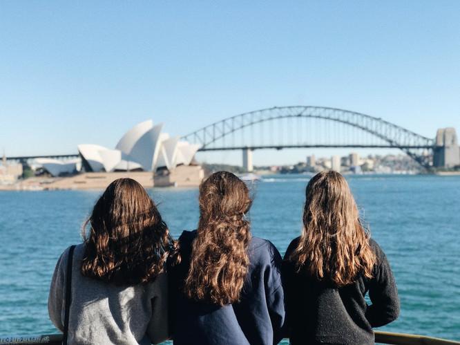 Orphenian members overlook the Sydney Opera House summer 2018