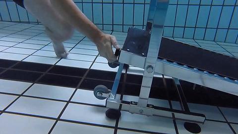Séance de tapis de course aquatique