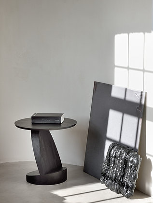 Ethnicraft, Teak Oblic Black Side Table