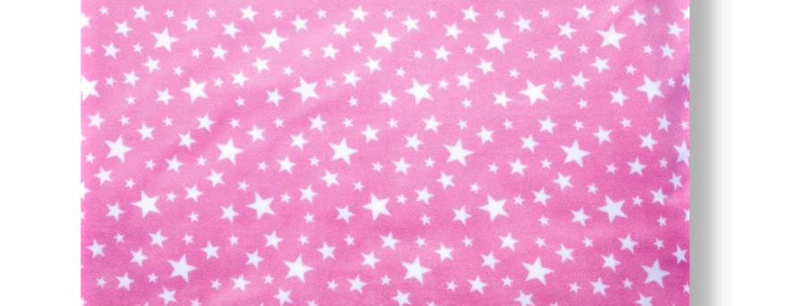 WHITE STARS - PINK