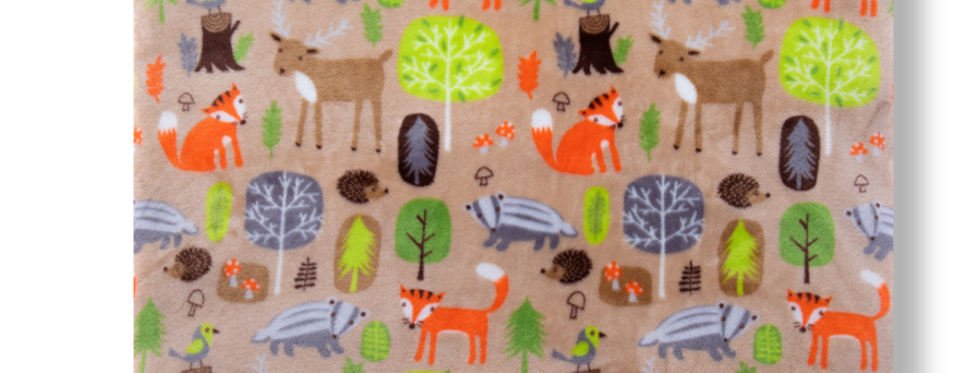 FOREST ANIMALS - BEIGE
