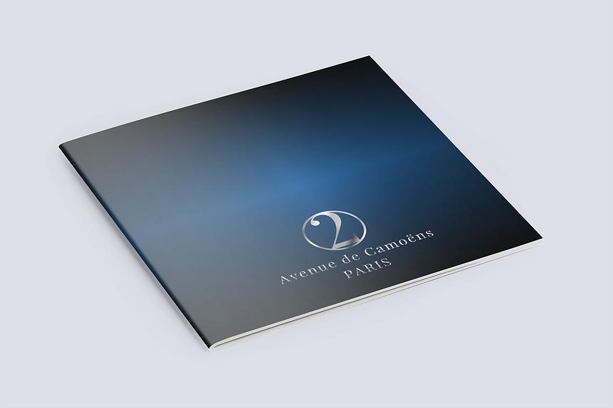Blue Background Paris Brochure Mock Up.p