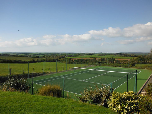 Tennis Court Tregaddra Farm