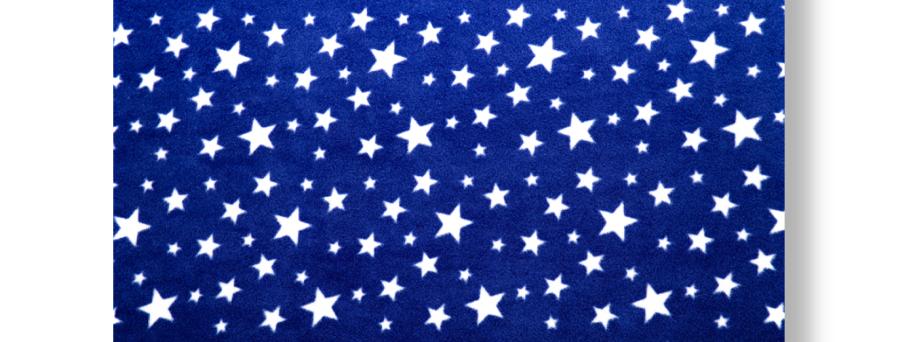 WHITE STARS - NAVY