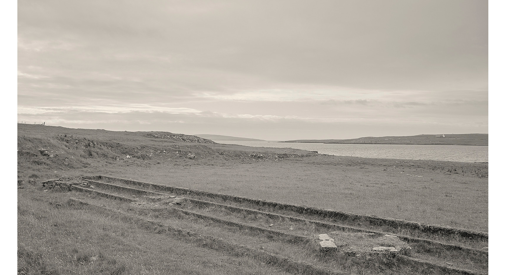 The remains of former gutter's huts, Baltasound, Unst, Shetland, 2018