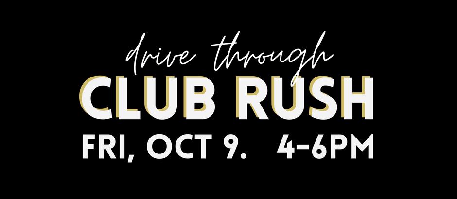 Drive-Through Club Rush 2020