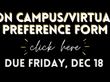 Change of Preference Form: On Campus/Virtual Learning TERM 2