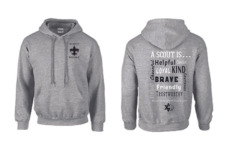 Boy Scouts Hoodie in Heather Grey