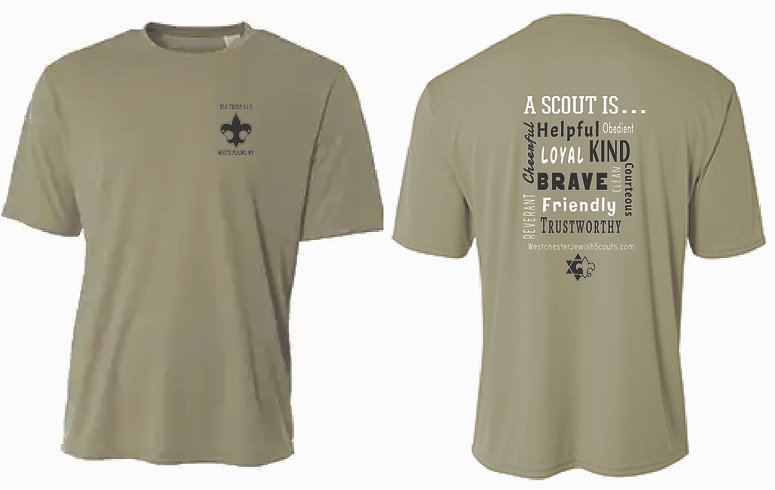 Boy Scouts Cotton Softstyle T-Shirt in Military Green