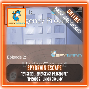 "Spybrain Escape - ""Episode 1:  Emergency Procedure"" & ""Episode 2:  Under Ground"""