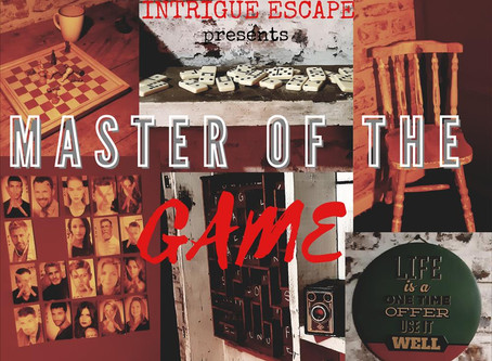 """🗣.    REMOTE:  Intrigue Escape Room - """"Master of the Game"""""""
