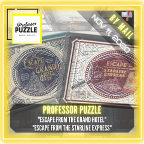 "Professor Puzzle - ""Escape from the Grand Hotel"" & ""Escape from the Starline Express"""