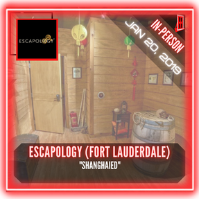 "Escapology Escape Rooms (Fort Lauderdale) - ""Shanghaied"""