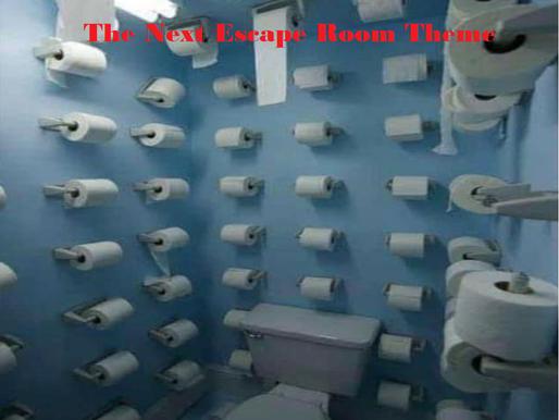 📈.    Escape rooms: 1, Coronavirus: 0