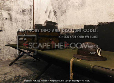 "Mind Warp Escape Rooms - ""Le Bunker Souterrain, WWII Bunker"""