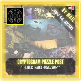 "Cryptogram Puzzle Post - ""The Illustrated Puzzle Story"""
