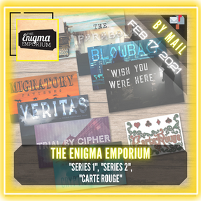 "The Enigma Emporium - ""Predator or Prey (Series 1)"", ""Cycle of Learning (Series 2)"", & ""Carte Rouge"""