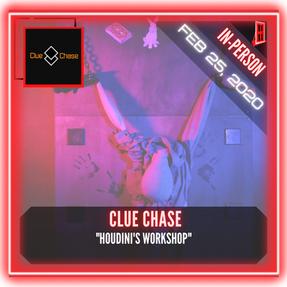 """Clue Chase - """"Houdini's Workshop"""""""