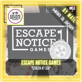 """Escape Notice Games - """"Stolen At Sea"""""""