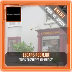 """eScape-room.UK - """"The Clocksmith's Apprentice"""""""