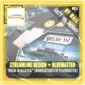"Streamline Design + BlueMatter games (Manufactured by PlayMonster) - ""Break In Alcatraz"""