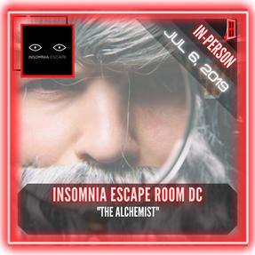 """Insomnia Escape Room DC - """"The Alchemist"""""""