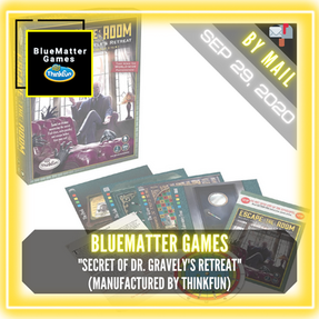 """BlueMatter Games (Manufactured by ThinkFun) - """"Secret of Dr. Gravely's Retreat"""""""