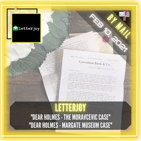 "Letterjoy - ""Dear Holmes - The Moravcevic Case"" & ""Dear Holmes - Margate Museum Case"""