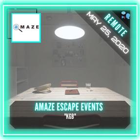 """REMOTE:  Amaze Escape Events - """"KGB"""""""
