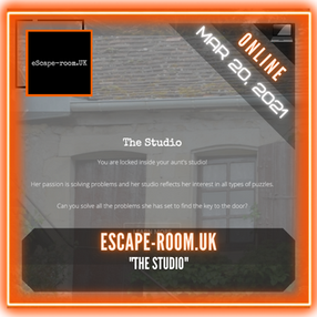 "eScape-room.UK - ""The Studio"""