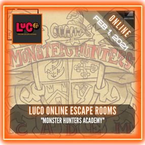 """LuCo Online Escape Rooms - """"Monster Hunters Academy"""""""