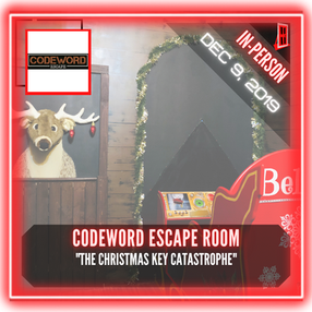 "Codeword Escape Room - ""The Christmas Key Catastrophe"""