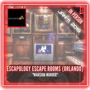 """Escapology Escape Rooms (Orlando) - """"Mansion Murder"""""""