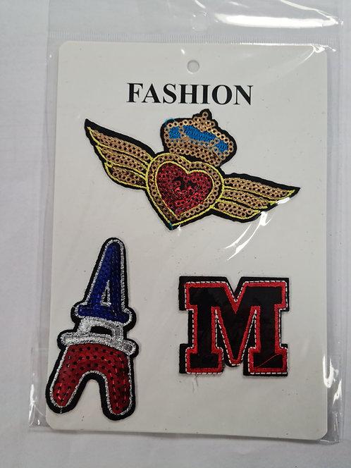 Fashion Iron on Patch Packs