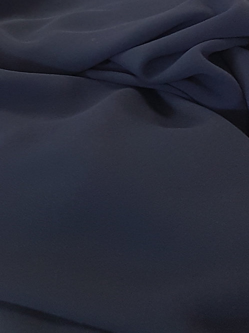 Polyester Georgette Navy